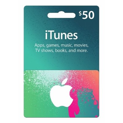 iTunes $50 Gift Card – Digital Delivery