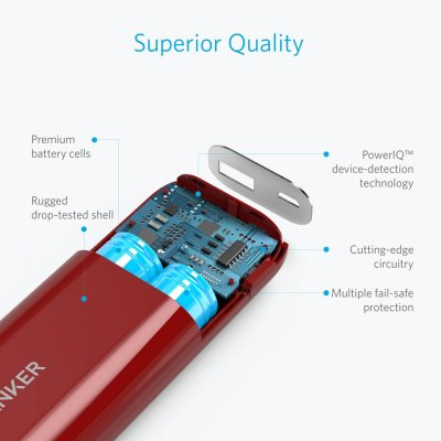 Anker Astro E1 5200mAh PowerBank & Anker Selfie Stick Wired Handheld Monopod