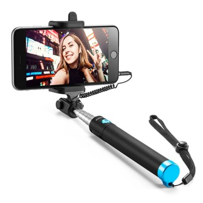 Anker Selfie Stick Extendable [Battery Free] Wired Handheld Monopod for iPhone, Galaxy, Nexus and More – Black