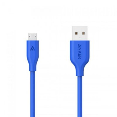 Anker 10ft PowerLine Micro USB Cable Blue