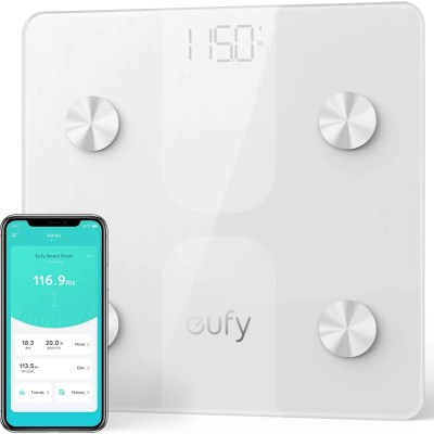 Anker eufy Smart Scale C1 with Bluetooth Digital Measuring Scale (White)