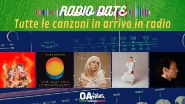 RADIO DATE del 30 aprile. Coma_Cose, Giordana Angi e Loredana Bertè, Billie Eilish, Anna Tatangelo, Wrabel