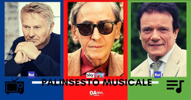 Rubrica, PALINSESTO MUSICALE: Ron, Franco Battiato, Massimo Ranieri