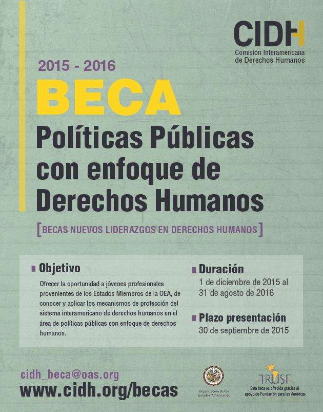 Beca sobre Políticas Públicas con Enfoque de Derechos Humanos desde el Trabajo de la CIDH