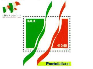 Foglietto 150° anniversario dell'unita d'Italia