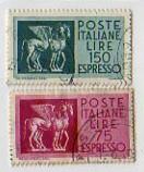 Cavalli alati carta normale, espressi, 1958 e 1966