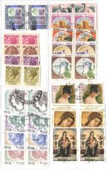 Italia 17 coppie orizzontali tutte diverse, francobolli usati