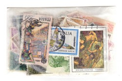 Italia 100 francobolli tutti diversi usati