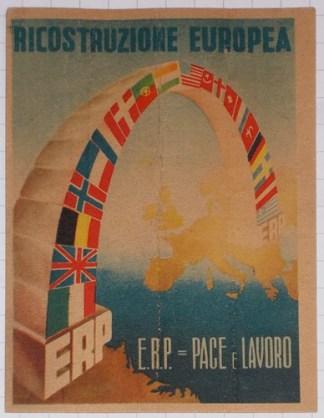 CARTOLINA E.R.P. PACE E LAVORO - 1950