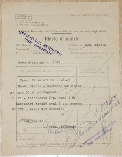 Comunicazione tra uffici 1950