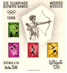 Somalia foglietto XIX olimpiadi
