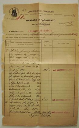 Mandato di pagamento 1922