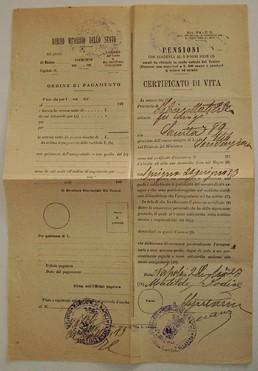 Certificato di vita - Mod 71 C.G. 1923