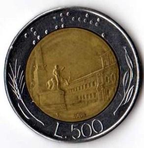 Italia 500 lire 1984
