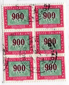 Cifra e decorazioni filigrana stelle sestina, segnatasse, 900 Lire, 1984