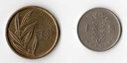 BELGIO - 2 MONETE