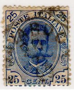 Effigie di Umberto I, terza serie 25 centesimi
