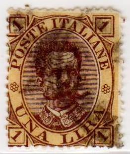 Effigie di Umberto I, seconda serie, 1 Lira, 1889