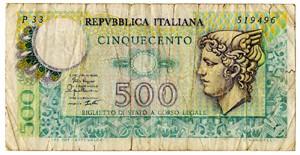 0385 Italia 500 lire