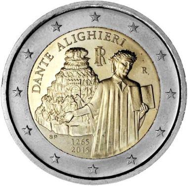 Italia 2 euro Dante 2015