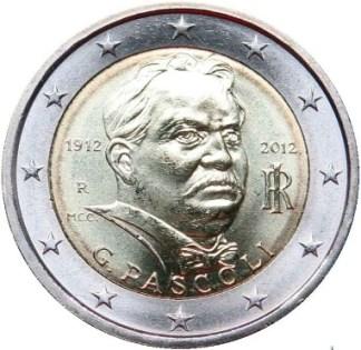 2 euro Giovanni Pascoli 2012