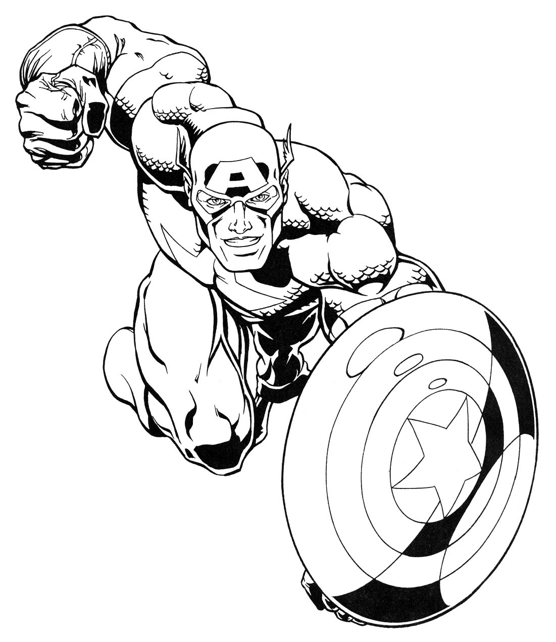 super hero colouring pages
