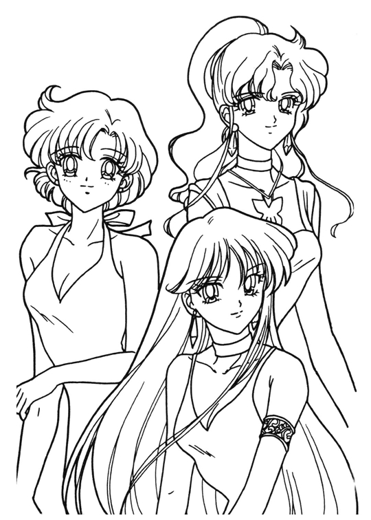 moon anime girl colouring pages page 2