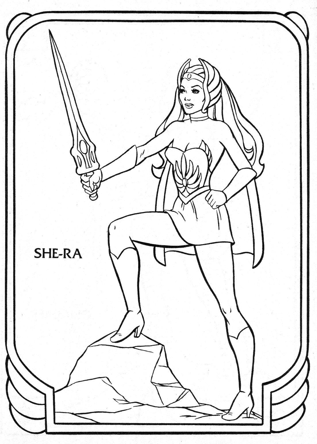 She Ra Immagini Da Colorare