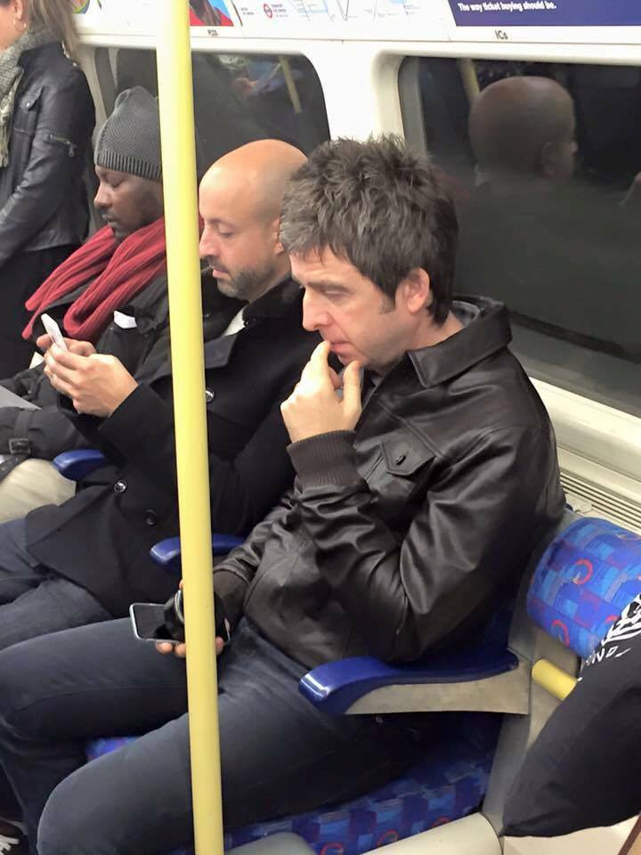 Tube Image Noel.Noel Gallagher Spotted Travelling On The Tube To U2 Concert