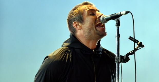 Liam Gallagher on stage