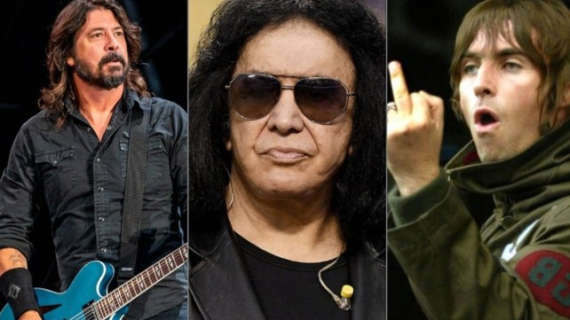 Dave Grohl, Gene Simmons, Liam Gallagher