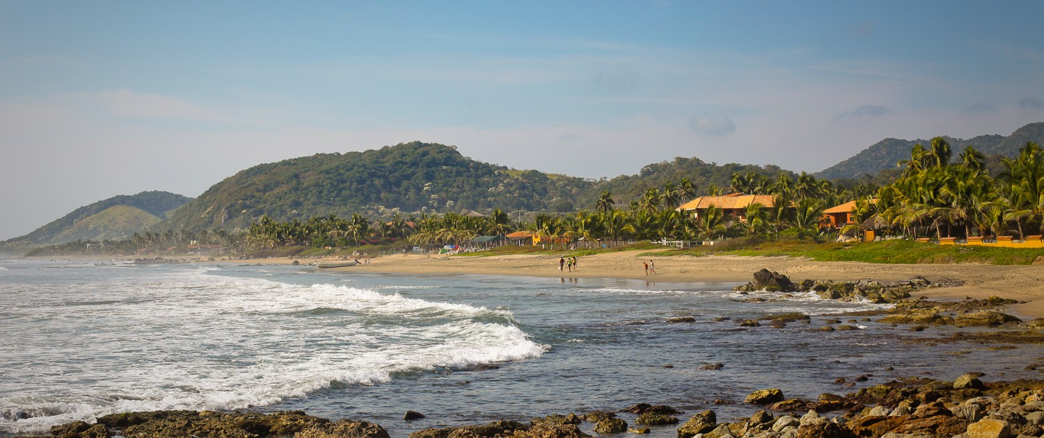south end of troncones beach