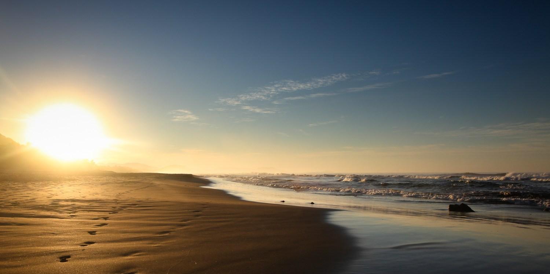 Deserted Troncones beach at dawn