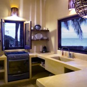 Casa Oasis Troncones Troncones Vacation rental downstairs two bedroom beach house ocean view kitchen