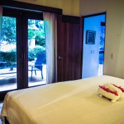 Casa Oasis Troncones vacation rental downstairs two bedroom beach house garden bedroom