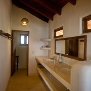 Casa Oasis Troncones beachfront vacation rental Penthouse Flat master ensuite bath and water closet