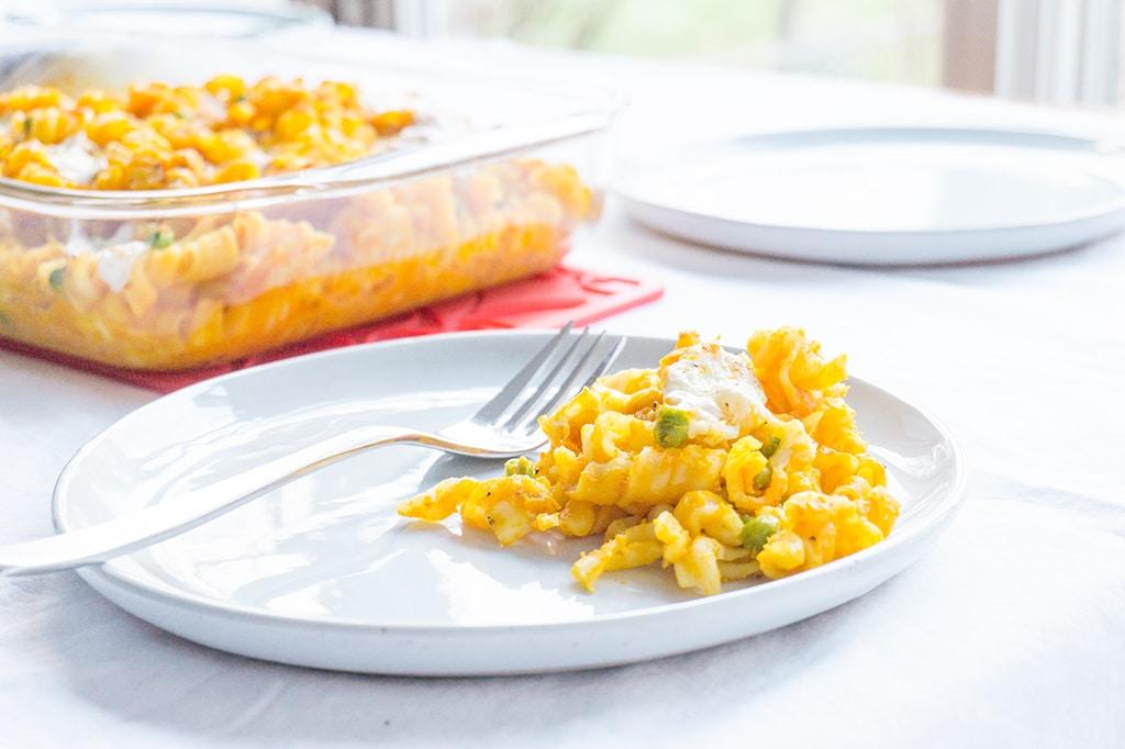 Butternut Squash Pasta on plate