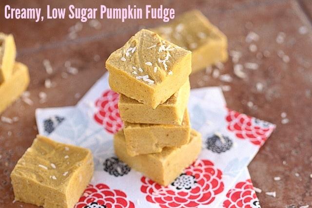 Creamy, Low Sugar Pumpkin Fudge