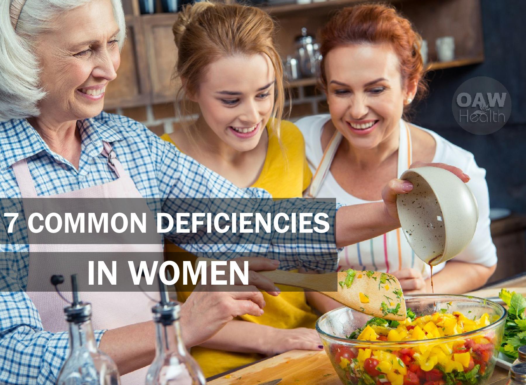 7 Common Deficiencies in Women
