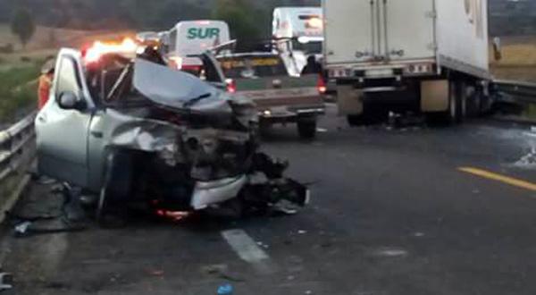 Cinco personas lesionadas en accidente en la Súper Carretera