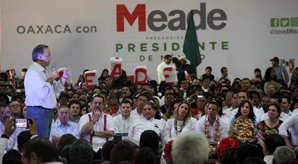 Meade: detonar el desarrollo en Oaxaca