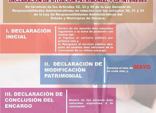 El 31 de mayo vence plazo para presentar declaración de modificación patrimonial