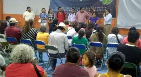 Pone en marcha Congreso foros sobre Ley de Agua en Oaxaca