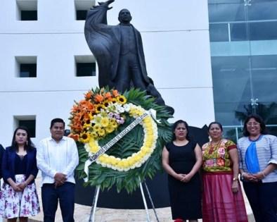 Reconocen en Congreso local legado del primer presidente de origen zapoteca