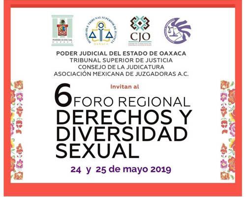 Invita poder judicial del estado a foro regional sobre derechos y diversidad sexual