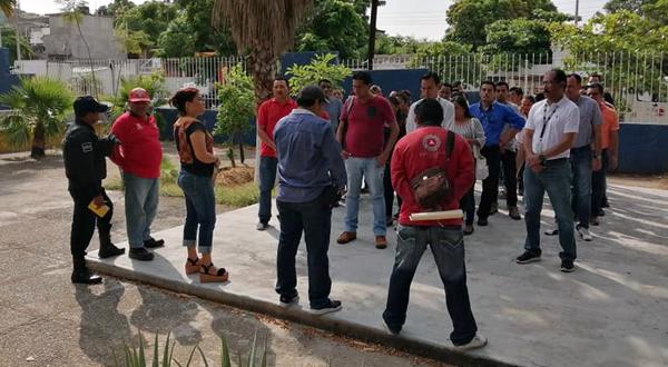 Mega simulacro por sismo en Salina Cruz