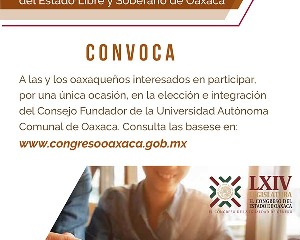 Convocan a integrar Consejo Fundador de la Universidad Autónoma Comunal de Oaxaca
