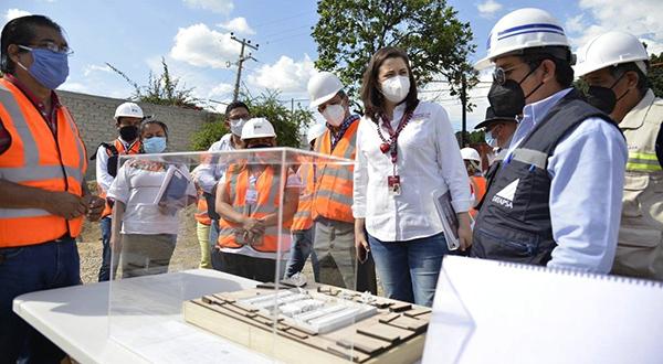 Constata Ayuntamiento avance de obras ejecutadas por SEDATU en el Mercado de Abasto