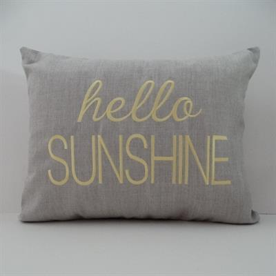 sunbrella embroidered hello sunshine indoor outdoor pillow cover