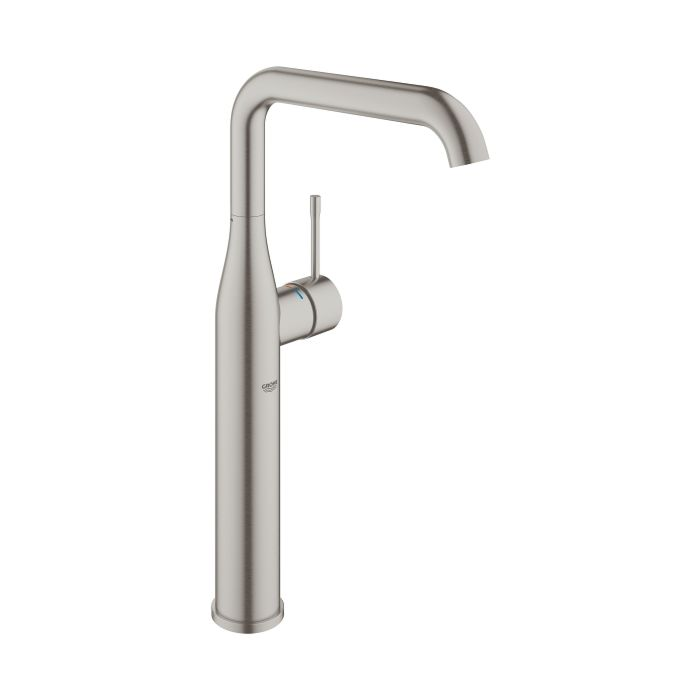 grohe essence washbasin faucet xl size 32901dc1 supersteel high version without pop up waste